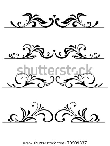 design floral elements - stock vector