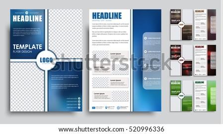 Design Flyers A 4 Size Brochure Templates Stock Vector 2018