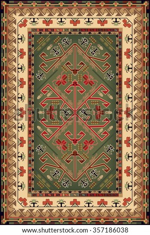 Design For Ethnic Style Area Rug