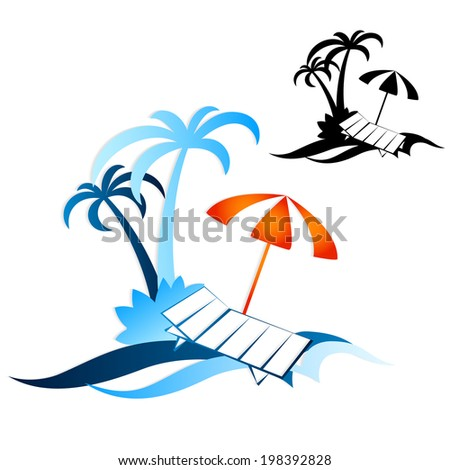 Design for travel and recreation, silhouette vector