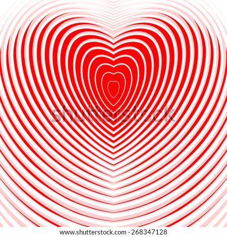 Design heart twisting movement illusion background.\ - stock vector