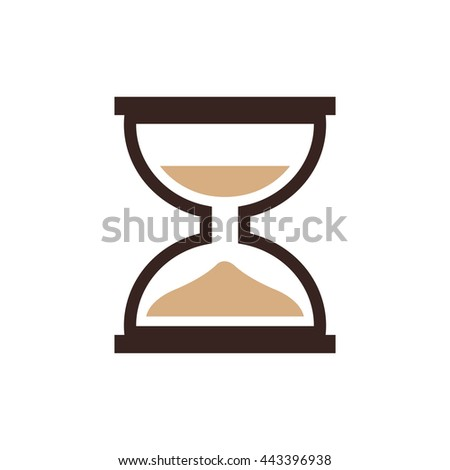 design hourglass icon and logo  brown color