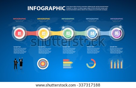 Design Infographic template for  business concept - stock vector