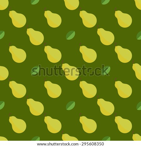 Design inspiration for seamless background, pattern and textures. Elements for textile products, business or other advertising. Pear. - stock vector