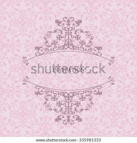 Design invitations on delicate pink background.