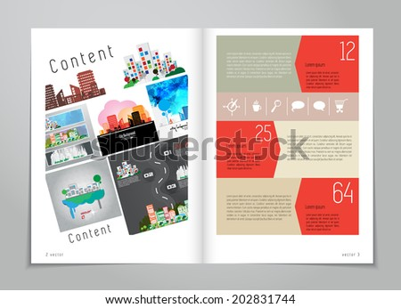 Design layout for magazine or brochure  - stock vector