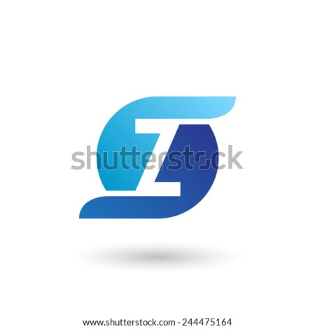 Design logo icon template with letter Z. Vector illustration. - stock vector
