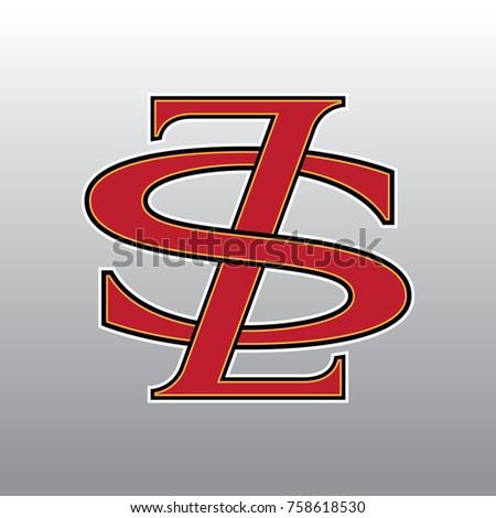 Design Logogram Letters Initial Monogram Fancy Vintage Z And S Letter For Company