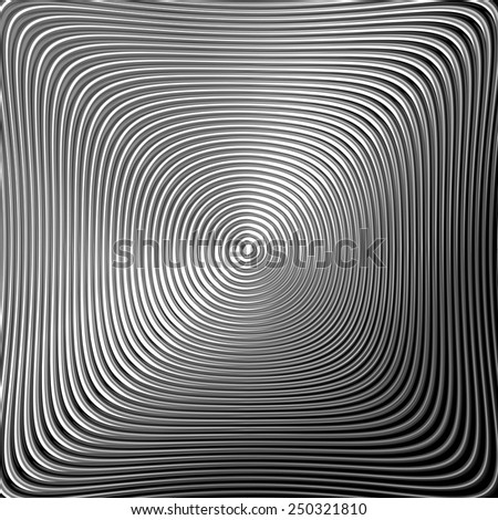 Design monochrome twirl circular movement background. Abstract stripy metallic backdrop. Vector-art illustration. EPS10 - stock vector