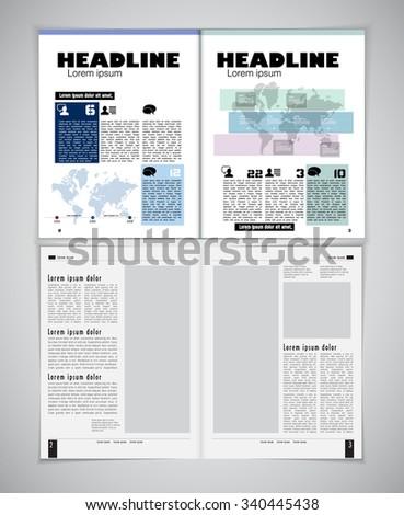 Design newspaper template - stock vector