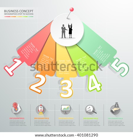 Design number options infographics. Vector illustration. can be used for workflow layout, diagram, number options, graphic or website layout. - stock vector