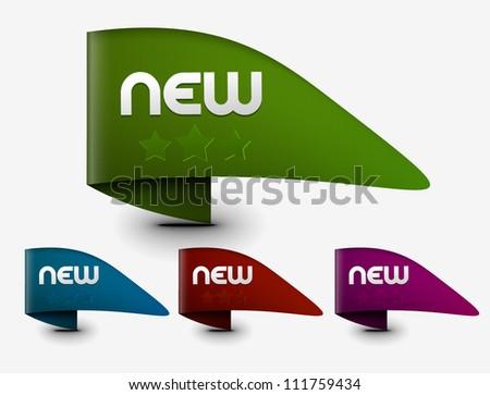 Design of advertisement labels. - stock vector