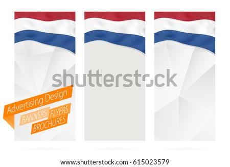 design banners flyers brochures flag netherlands stock vector