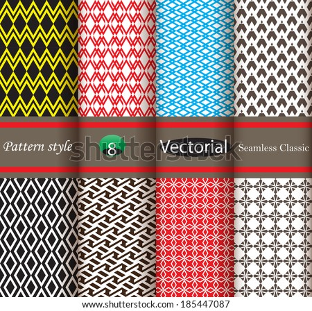 Design of classic seamless pattern