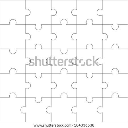 Design of jigsaw pattern - stock vector