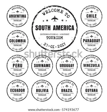 design old black worn stamps passport stock vector royalty free