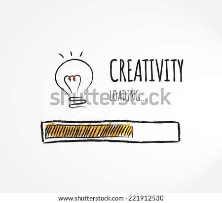 Design of progress bar, loading creativity - stock vector