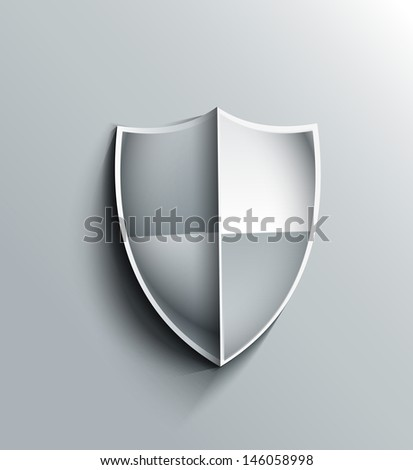 Design of shield icon vector illustration - stock vector