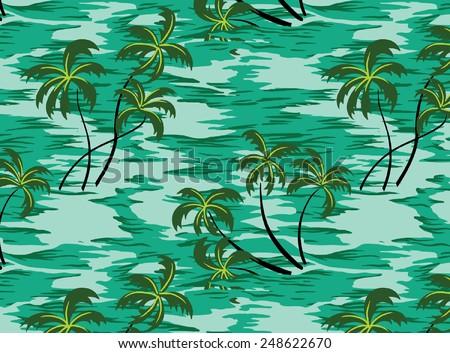design of the coconut and sea. - stock vector
