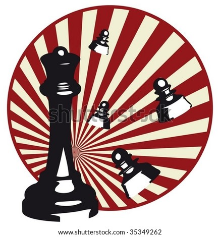 Design of vector illustrations of chess - stock vector