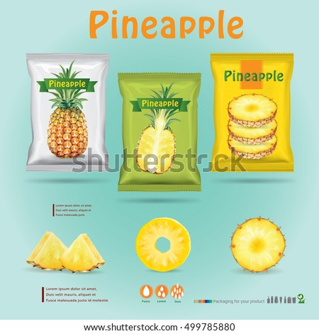 Design packaging for pineapple.vector