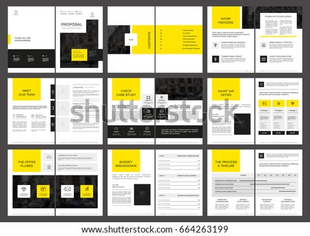 Design Proposal Vector Template Brochures Flyers Stock Vector