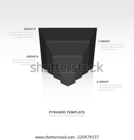 design pyramid infographic template  black color balance