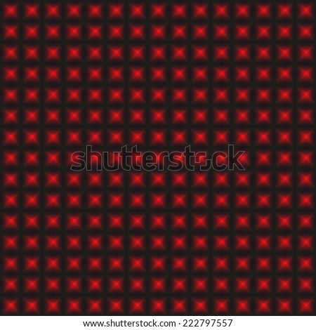 Design red warped geometric pattern, abstract convex textured background - vector square art