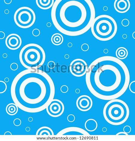 Design retro blue seamless pattern - stock vector
