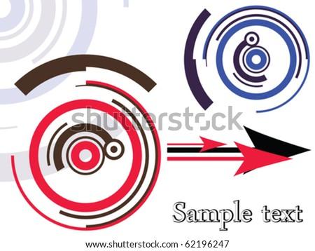 design retro pattern, abstract vector art illustration - stock vector