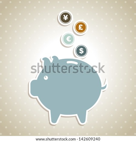 design savings over dotted background vector illustration - stock vector