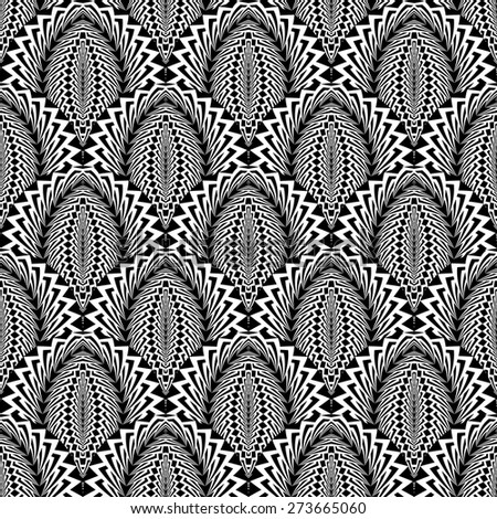 Design seamless monochrome abstract pattern. Abstract warped textured background. Vector art. No gradient