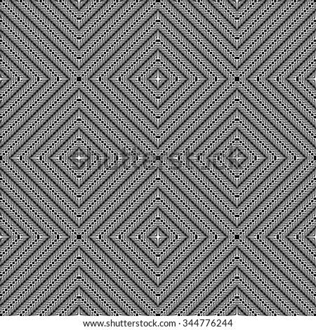 Design seamless monochrome diamond pattern. Abstract textured background. Vector art. No gradient - stock vector