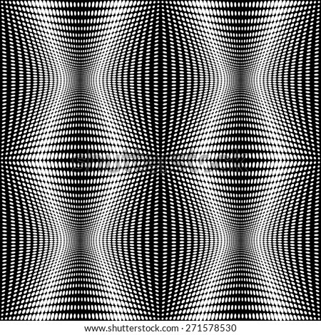 Design seamless monochrome dots pattern. Abstract background. Vector art. No gradient - stock vector