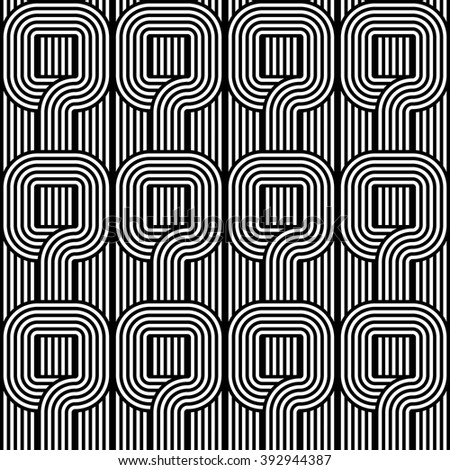 Design seamless monochrome pattern. Abstract stripy background. Vector art