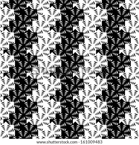 Design seamless monochrome striped pattern. Vector art