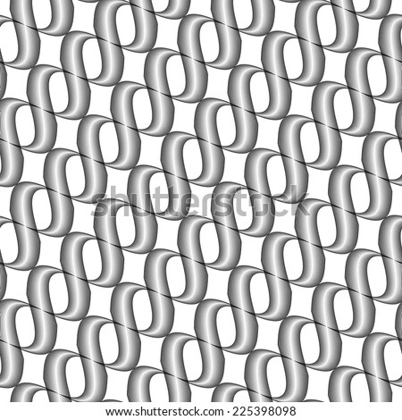 Design seamless monochrome twisted wave pattern. Abstract stripy background. Vector art - stock vector