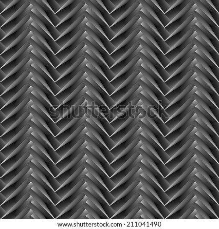 Design seamless monochrome zigzag geometric pattern. Abstract diagonal stripy background. Vector art - stock vector
