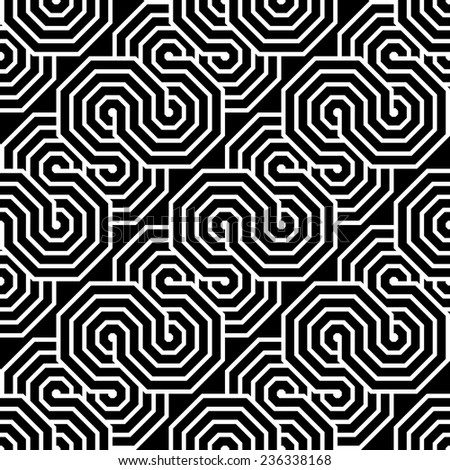 Design seamless monochrome zigzag geometric pattern. Abstract diagonal stripy waving background. Vector art