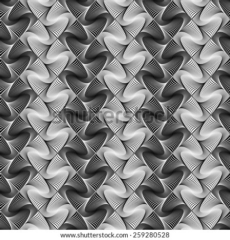 Design seamless zigzag geometric pattern. Abstract monochrome decorative background. Vector art. No gradient - stock vector