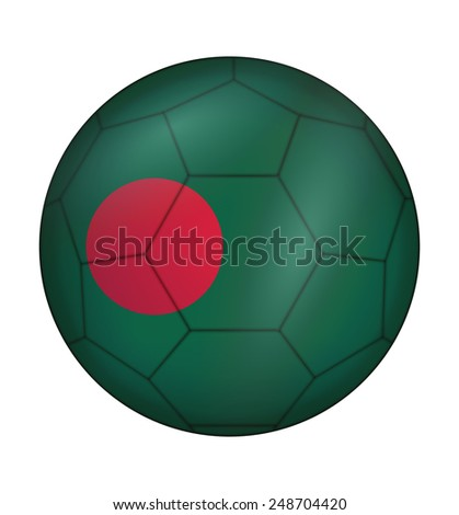 design soccer ball flag of Bangladesh - stock vector