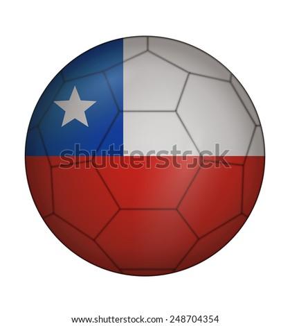 design soccer ball flag of Chile - stock vector