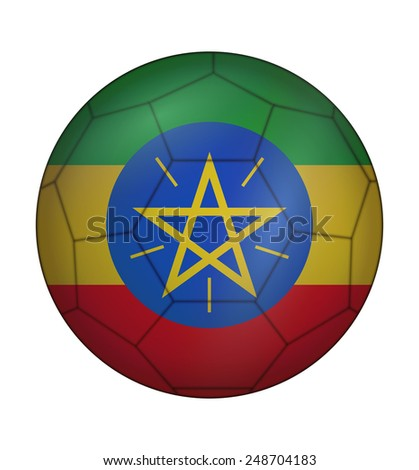 design soccer ball flag of Ethiopia