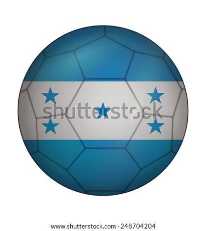 design soccer ball flag of Honduras - stock vector