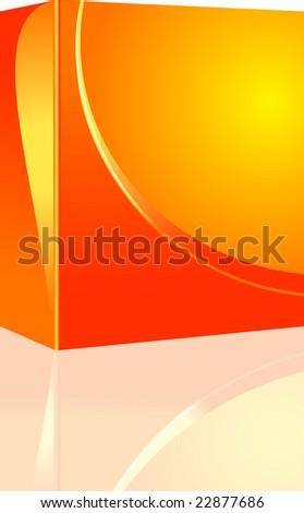 Design Software box - stock vector