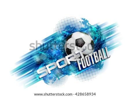 design sports football banner ball vector text - stock vector