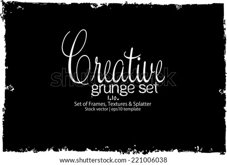 Design template.Abstract grunge frame texture. Stock vector - stock vector