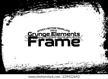 Design template. Abstract grunge frame texture. Stock vector set - easy to use