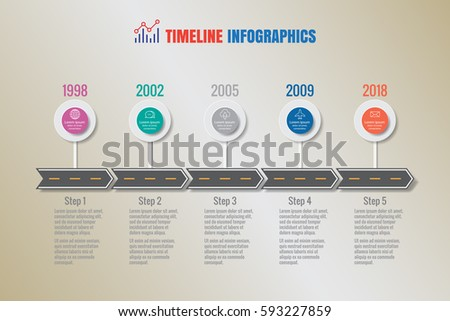 Design Template Creative Business Timeline Infographics Stock Vector