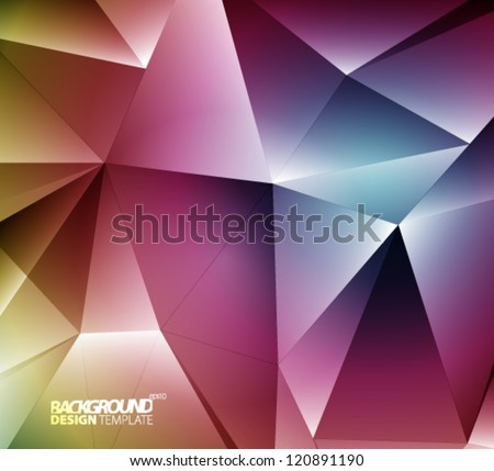 Design Template - eps10 Abstract Lines Background